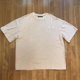 KAWI JAMELE - KAWI JAMELE ベージュ 刺繍入り半袖Tシャツ フリーサイズ