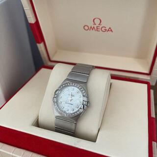 オメガ(OMEGA)のOMEGA オメガ 腕時計 コンステレーション ベゼルダイヤ レディース(腕時計)