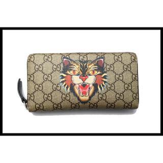 グッチ(Gucci)のGUCCI GGスプリーム アングリーキャット長財布■07zb1524085(財布)