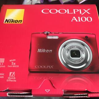 Nikon - Nikon COOLPIX Affinity COOLPIX A100 RED