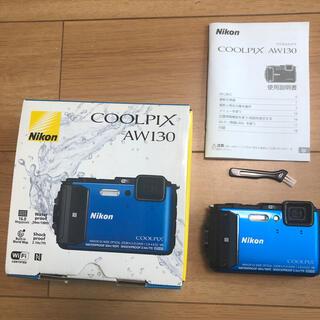 Nikon - Nikon COOLPIX AW130 blue 30m防水 美品!