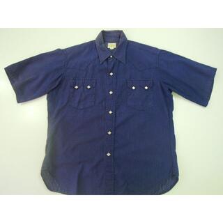ウエアハウス(WAREHOUSE)の09x ウエアハウス WAREHOUSE半袖ストライプウエスタンシャツ/ ウォバ(Tシャツ/カットソー(半袖/袖なし))