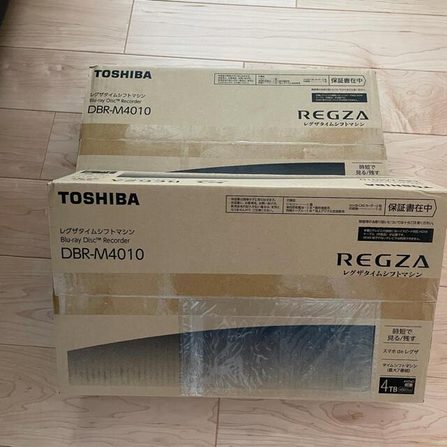 東芝(トウシバ)のyyaoue様専用 新品未開封REGZA DBR-M4010 4TB 2台セット スマホ/家電/カメラのテレビ/映像機器(ブルーレイレコーダー)の商品写真
