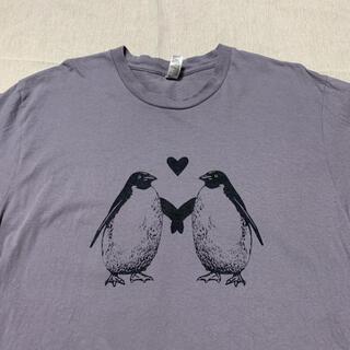 アメリカンアパレル(American Apparel)のアメリカ製 USA製 ペンギン アメリカンアパレル 動物 アニマル tee 古着(Tシャツ/カットソー(半袖/袖なし))