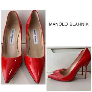 MANOLO BLAHNIK - マノロブラニク レッドパテント パンプス