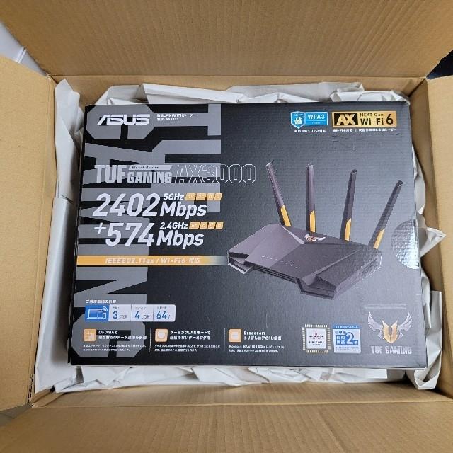 ASUS(エイスース)の【値下げ】TUF AX3000 ASUS WiFi6対応 無線 ルーター スマホ/家電/カメラのPC/タブレット(PC周辺機器)の商品写真