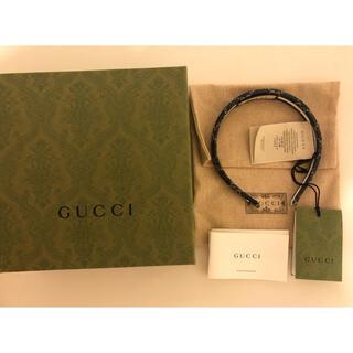 グッチ(Gucci)のgucci グッチカチューシャ エコ ウォッシュドデニムヘアバンド(カチューシャ)