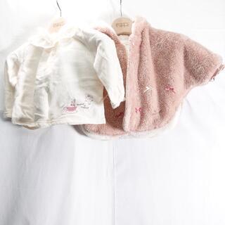 キムラタン(キムラタン)のキムラタン ポンチョ/長袖服 キッズレディース ピンク/ホワイト(Tシャツ)