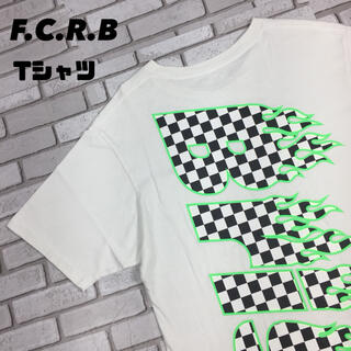 F.C.R.B. - 古着 FCRB Bristol チェッカーフラッグ ビッグロゴ tシャツ ポケT