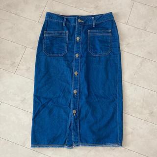 ロンハーマン(Ron Herman)のR.H.vintage♡ボタンデニムスカート♡(ひざ丈スカート)