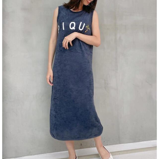 gelato pique(ジェラートピケ)の新品 ジェラートピケ サマージャガード タンクドレス ヤシの木 レディースのルームウェア/パジャマ(ルームウェア)の商品写真