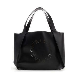 アディダスバイステラマッカートニー(adidas by Stella McCartney)の新品 ステラマッカートニー ロゴ エコレザートートバッグ ブラック(トートバッグ)