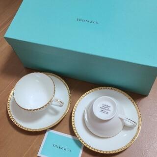 ティファニー(Tiffany & Co.)の★新品★ティファニー ゴールドバンド ティーカップ&ソーサーペア(グラス/カップ)