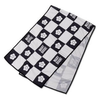 マリークワント(MARY QUANT)の新品 マリークワント 冷感 チェックタオル 黒(タオル/バス用品)