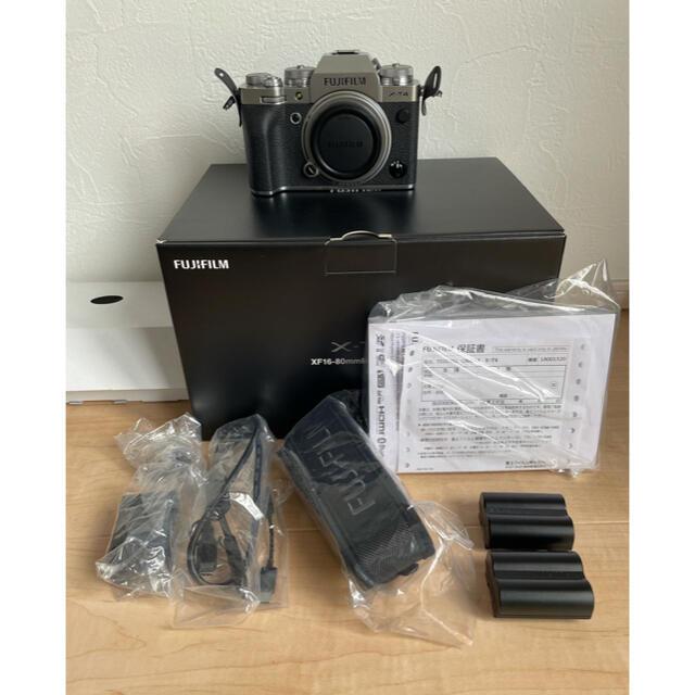 富士フイルム(フジフイルム)のFujifilm 富士フイルム X-T4 美品  おまけ付き スマホ/家電/カメラのカメラ(ミラーレス一眼)の商品写真