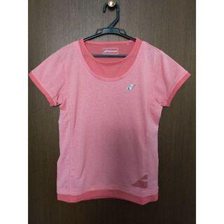 バボラ(Babolat)の美品/バボラBabolaT/テニスウェア/ドライTシャツ/レディース/L(ウェア)