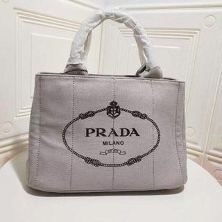 PRADA - プラダPRADA カナパ  グレー トートショルダーバッグ