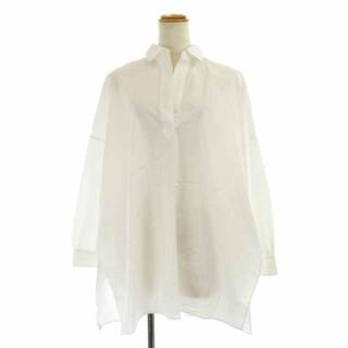 PLST - プラステ 21SS コットンポンチョシャツ スキッパー 長袖 S 白 ホワイト