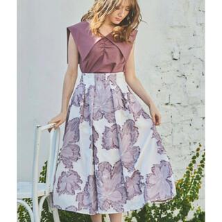 ノエラ(Noela)のNoela カットジャガードスカート ノエラ スカート フレアスカート ピンク(ロングスカート)