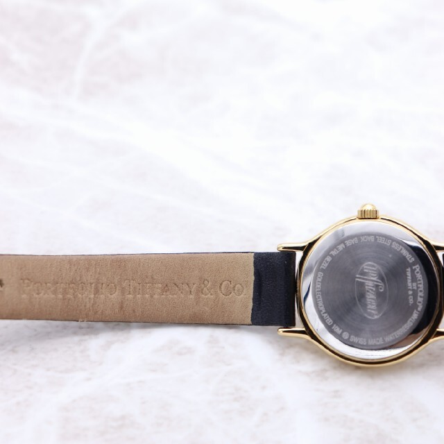 Tiffany & Co.(ティファニー)の箱付き【新品電池】Tiffany& Co./PORTFOLIO 動作良好 美品 レディースのファッション小物(腕時計)の商品写真
