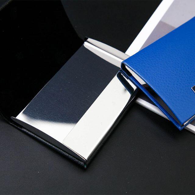 ステンレス 銅 合金 名刺入れ ブラック 黒 メンズのファッション小物(名刺入れ/定期入れ)の商品写真