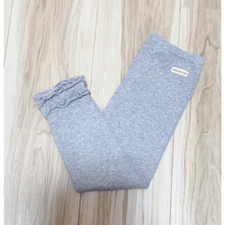 ミキハウス(mikihouse)のミキハウス 裾フリルデザイン スパッツ サイズ 90 グレー(パンツ/スパッツ)