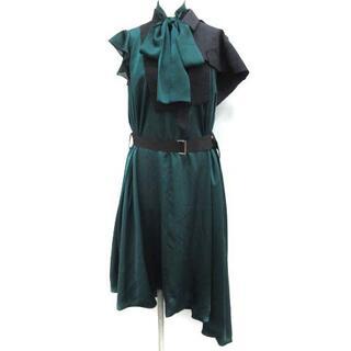 sacai - サカイ 2019年製 ワンピース ロング 変形 半袖 1 S 緑 グリーン 紺
