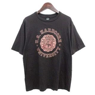 ナンバーナイン(NUMBER (N)INE)のナンバーナイン Tシャツ カレッジ 半袖 ヴィンテージ加工 2 チャコール(Tシャツ/カットソー(半袖/袖なし))