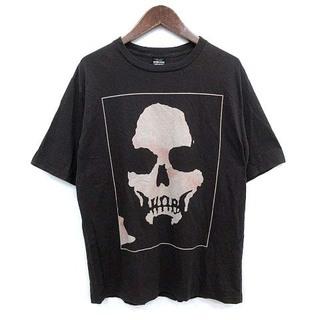 ナンバーナイン(NUMBER (N)INE)のナンバーナイン スカル Tシャツ 半袖 ヴィンテージ加工 2 M チャコール(Tシャツ/カットソー(半袖/袖なし))
