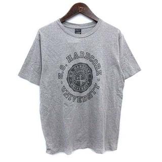 ナンバーナイン(NUMBER (N)INE)のナンバーナイン Tシャツ カレッジ 半袖 ロゴ 3 L グレー(Tシャツ/カットソー(半袖/袖なし))