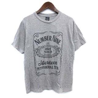 ナンバーナイン(NUMBER (N)INE)のナンバーナイン OLD No9 Tシャツ 半袖 ロゴ 3 L グレー(Tシャツ/カットソー(半袖/袖なし))