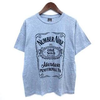 ナンバーナイン(NUMBER (N)INE)のナンバーナイン OLD No9 Tシャツ 半袖 3 水色 ブルー ミックス(Tシャツ/カットソー(半袖/袖なし))