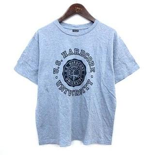 ナンバーナイン(NUMBER (N)INE)のナンバーナイン Tシャツ カレッジ 半袖 ロゴ 3 水色 ブルー ミックス(Tシャツ/カットソー(半袖/袖なし))