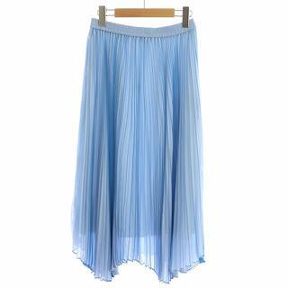 アナイ(ANAYI)のアナイ ANAYI スカート プリーツ ロング フレア 38 M 水色 /NM(ロングスカート)