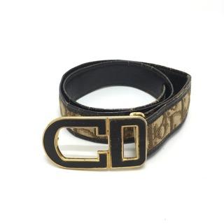 Christian Dior - クリスチャンディオール トロッター ヴィンテージ ベルト ベージュ×ブラウン