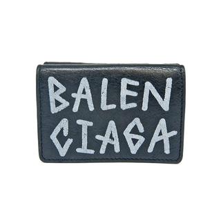 Balenciaga - バレンシアガ  三つ折り財布  グラフィティ ミニ ウォレット 5295