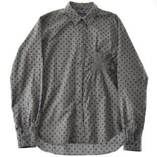 ブラックコムデギャルソン(BLACK COMME des GARCONS)のBLACK COMME des GARÇONS ドット柄 デザインシャツ 黒 灰(シャツ)