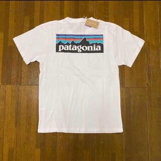 パタゴニア(patagonia)のパタゴニア Patagonia 定番tシャツ 白ホワイト Lサイズ(Tシャツ/カットソー(半袖/袖なし))