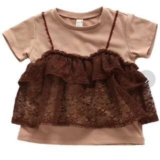 BREEZE - 新品アプレレクールレース付Tシャツ110