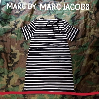 MARC BY MARC JACOBS - MARK BY MARK JACOBS リボン ボーダー ワンピース