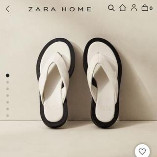 ザラホーム(ZARA HOME)のZARA HOME コントラスト レザーサンダル(サンダル)