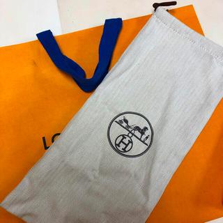 Hermes - エルメス 保存袋 巾着 布袋 本物 HERMES ロゴ シンプル