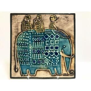 Lisa Larson - リサラーソン Lisa Larson UNIK ゾウ 陶板 ぞう 象