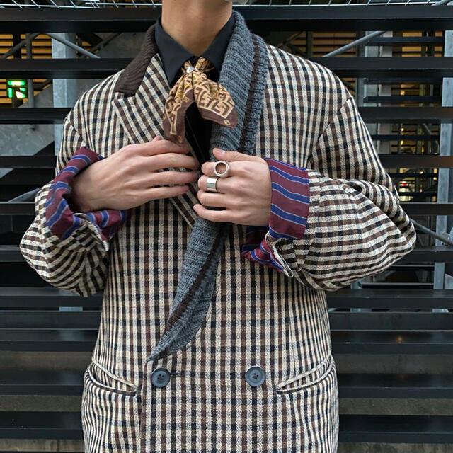 kolor(カラー)のkolor カラー ダブルフェイスチェックジャケット メンズのジャケット/アウター(テーラードジャケット)の商品写真