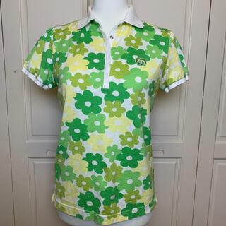 パーリーゲイツ(PEARLY GATES)のパーリーゲイツ レディース 半袖プリントポロシャツ 2(L)(ポロシャツ)