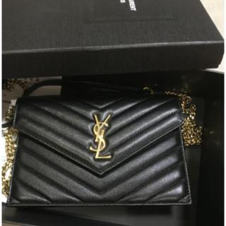 Yves Saint Laurent Beaute - SAINT LAURENT チェーンウォレット ブラック バッグ