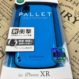 iPhoneXR スマホ ケース ブルー ハイブリッド ワイヤレス (iPhoneケース)
