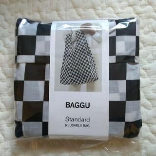 白黒 BAGGU baguu バグー スタンダード チェッカーボード ブラック