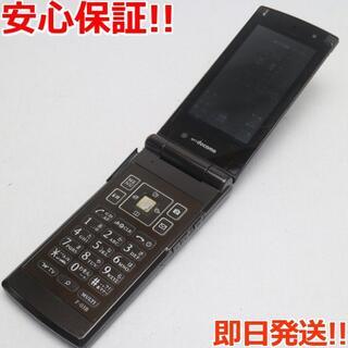 フジツウ(富士通)の良品中古 F-03B チタニウムブラウン 白ロム(携帯電話本体)
