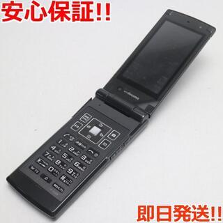 フジツウ(富士通)の美品 F-03B ブラック 白ロム(携帯電話本体)